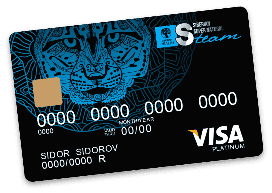 Банковская карточка в Сибирском здоровье