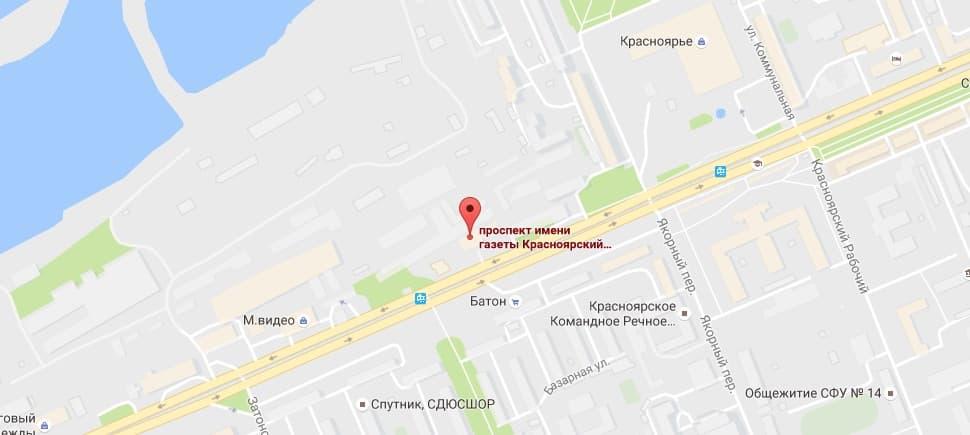 Магазин Сибирское здоровье в Красноярске на карте
