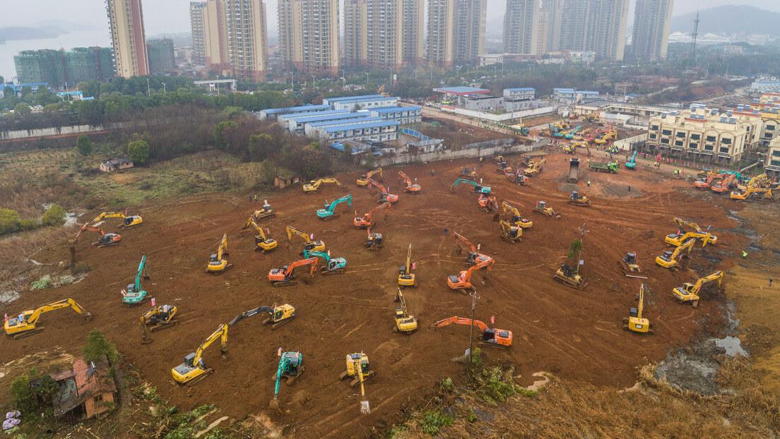 Ухань Китай коронавирус строительство больницы
