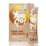 Напиток Immuno Drink (Защита иммунитета) «Лимон-имбирь» - Yo